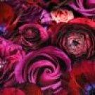 Teplákovina potisk fialové květy