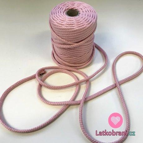 Šňůra kulatá oděvní PES 7 mm baby fialová