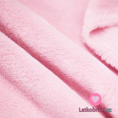 Coral fleece světle růžový