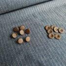 Metalické gombíky na jeans bavlne s ružovými lurexovým prúžkami