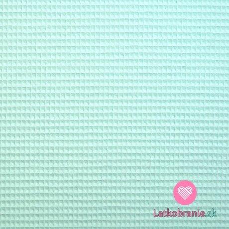 Bavlněná vaflovina jednobarevná mintová