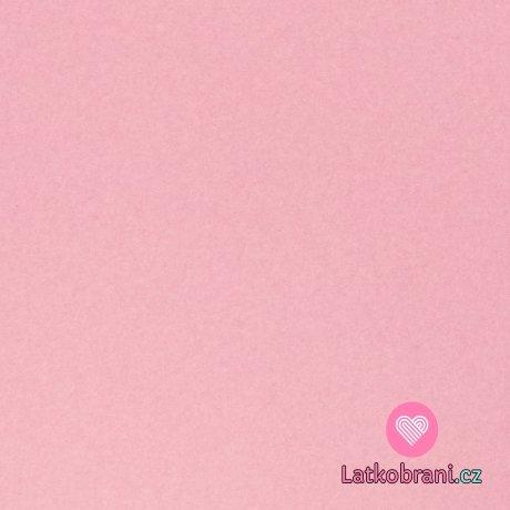 Bavlněný fleece jednobarevný melange růžový
