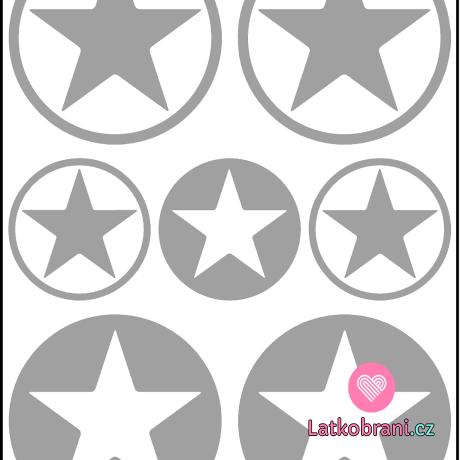 Reflexní nažehlovačka hvězda v kruhu