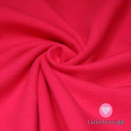 Jednobarevný úplet růžový malina 200g