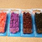 Patentky plastové Color snaps hnědé tmavé