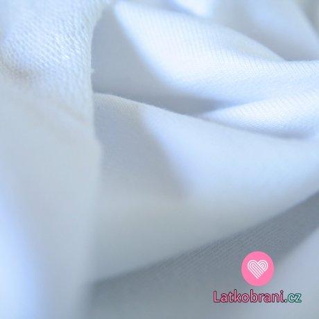 Jednobarevná teplákovina bílá 290g