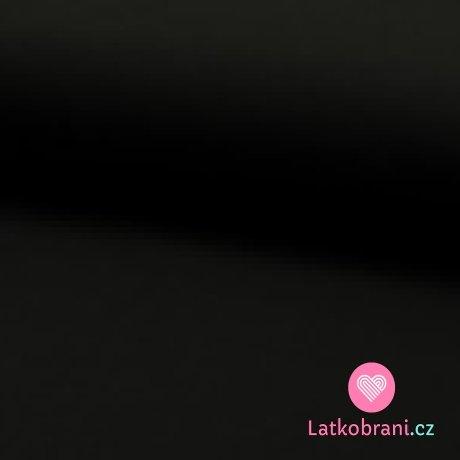 Jednobarevný úplet černý 220 g, šíře 180 cm