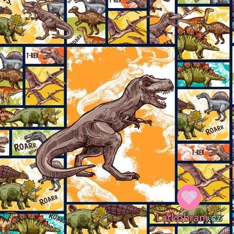 Panel komiks dinosaurus