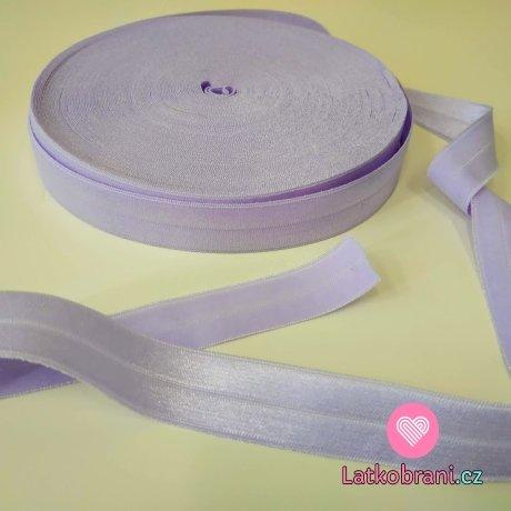 Šikmý proužek / lemovací pruženka ledově fialová 19mm