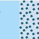 Teplákovina panel mořská panna na modré