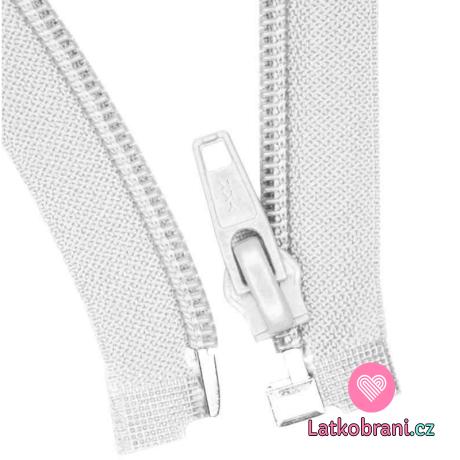 Zip spirálový dělitelný bílý 45 cm