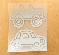 Reflexní nažehlovačka kabriolet, autíčko (2ks)