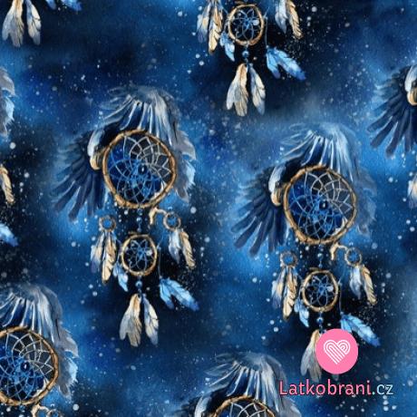 Teplákovina potisk lapače snů pod křídly orla na hvězdném nebi