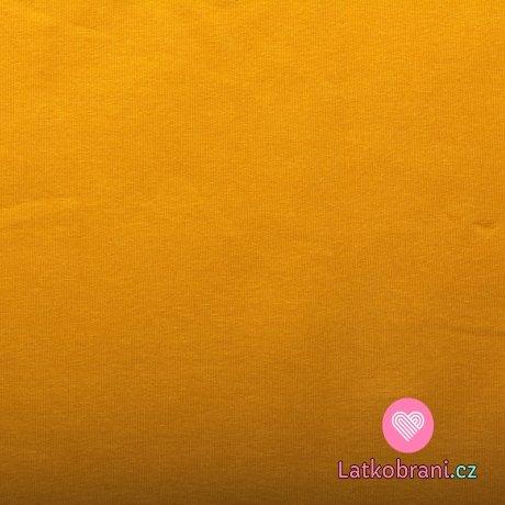 Jednobarevná teplákovina hořčicová 240 g