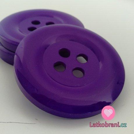 Knoflík mega velký středně fialový