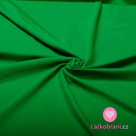 Jednobarevný úplet zelená tráva 240 g