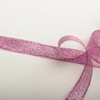 Stuha lurexová růžová 12 mm