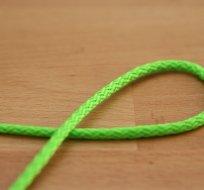 Šňůra kulatá oděvní PES 4 mm neon zelená