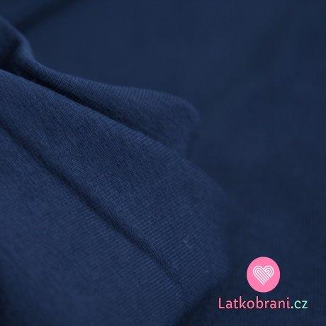 Jednobarevná teplákovina tmavě modrá 290g