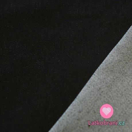 Jeans/Denim džínovina černá elastická