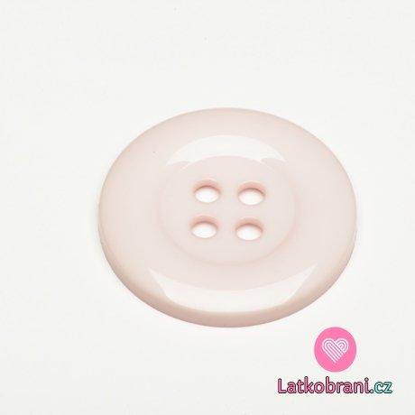 Knoflík mega velký baby růžový
