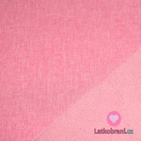 Softshell melé růžová s nádechem do starorůžové