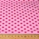 Úplet puntíky amarant na dětské růžové 5mm