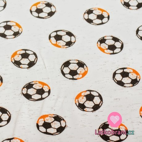 Úplet potisk fotbalové míče na světle šedé melé