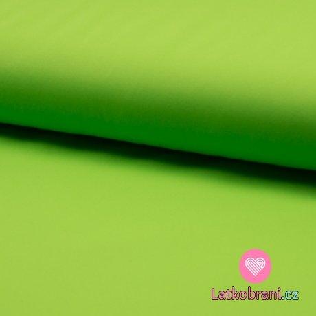 Softshell jednobarevný celoroční strečový limetkově zelený