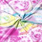 Teplákovina potisk pestrobarevná batika