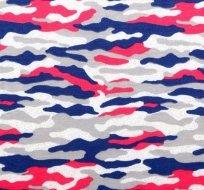 Úplet maskáč sytě růžový a modrý