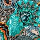 Úplet potisk mandaly modré, zelené , oranžové