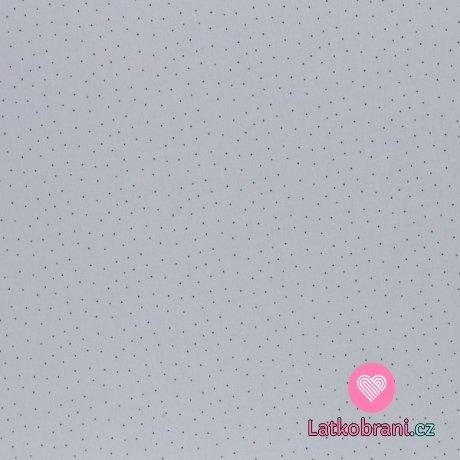 Bavlněné plátno droboučké puntíčky na šedé