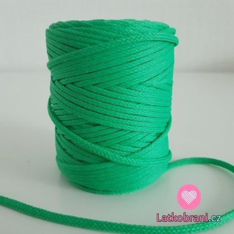 Šňůra oděvní kulatá  PES 4 mm pastelově zelená