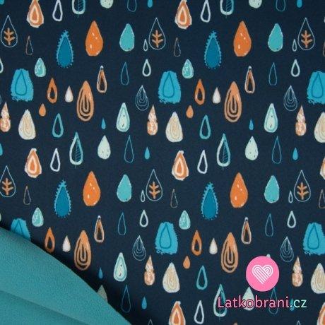 Softshell veselé barevné kapičky na námořnicky modré