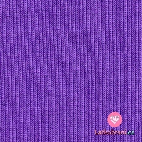 Náplet žebro tmavě fialový
