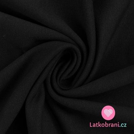 Teplákovina počesaná černá 245 g.