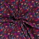 Softshell barevní ptáčci a motýlci na milované louce s fleecem