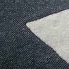 Svetrovina s beránkem, jeans efekt tmavě modrá