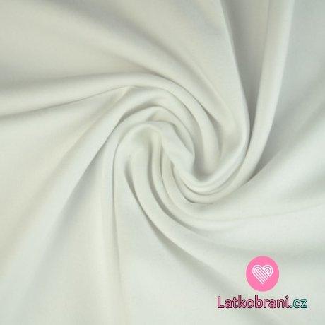Jednobarevná teplákovina bílá 250g