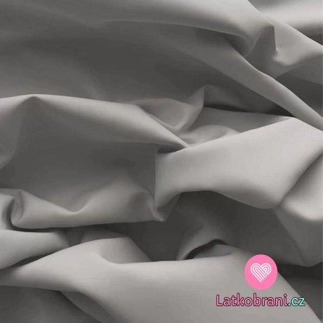 Bavlněný popelín šedý