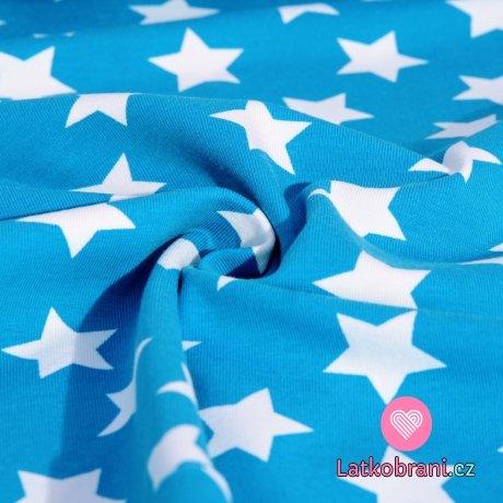 Úplet hvězdy bílé na modré