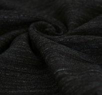 Teplákovina černá melé pruhy speciál