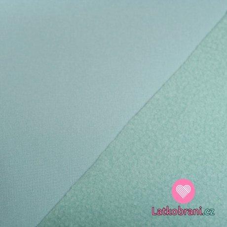 Softshell pastelově šedo-modrý s fleecem 315g