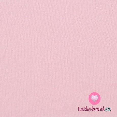 Jednobarevný, oboulícní bavlněný úplet růžový baby