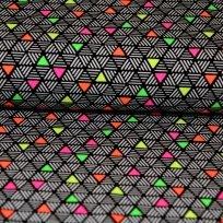 Úplet trojúhelničky s neonovým vybarvením