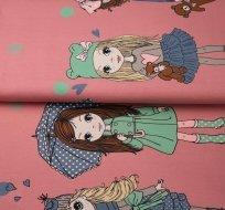 Úplet bordura zimní holčička na starovínove