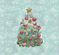Panel vánoční stromeček mint