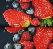 Úplet bordura lesní ovoce na tmavě modré -ZBYTEK
