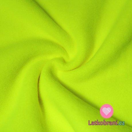 Jemný polar fleece neonově žlutá antipiling